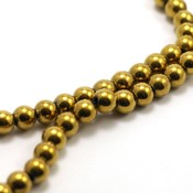 Hematiet kralen gold plated (6mm)