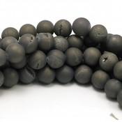 Druzy agaat kralen 10 mm (streng)