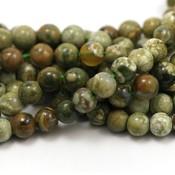 Jaspis - rhyolietjaspis kralen 6 mm rond (streng)
