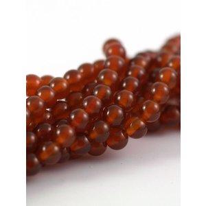 Carneool kralen 6 mm rond (streng)