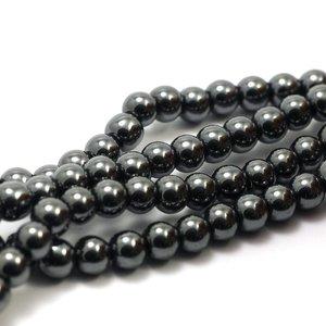 Hematiet kralen grijs (6mm)