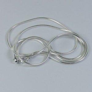 925 zilveren ketting - 45 cm 'snake chain'