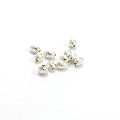 925 zilveren kralen ovaal 3 x 5 mm