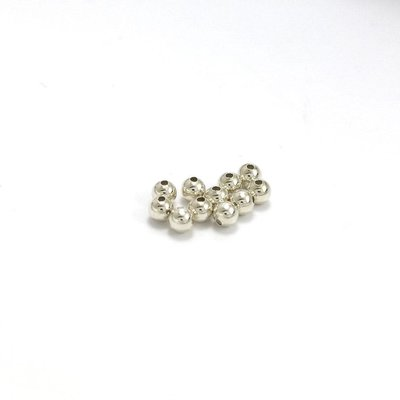 Argentium® zilveren kralen rond 'smooth' 2, 3 en 4 mm