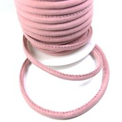 Nappa leer 6 mm suede licht roze