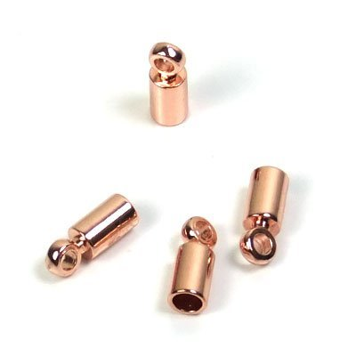 B19- DQ rosegold eindkapje 2 mm (p.st)