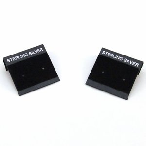 Oorbelkaartjes 'Sterling Silver' (zwart)