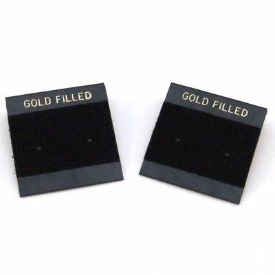 Oorbelkaartjes 'Gold Filled' (zwart)