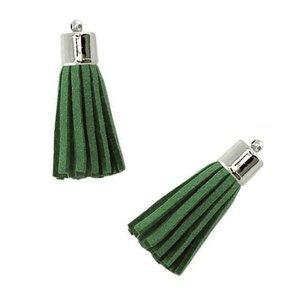 Hanger - Kwastje Donker Groen