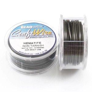 BeadSmith Craft Wire 'Hematite' 18-28 gauge
