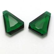 Emerald Green Korund Quartz briolette (per stuk)