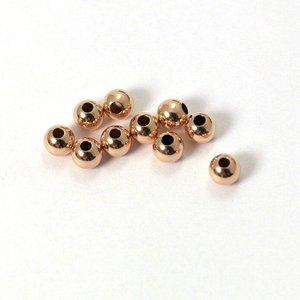 Rose Goldfilled 14kt kralen - rond 4 mm 'smooth'