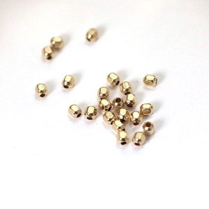 Goldfilled 14 kt 2,5 mm facet kralen