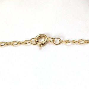 Goldfilled 14 kt ketting 'figure eight' (45 cm)
