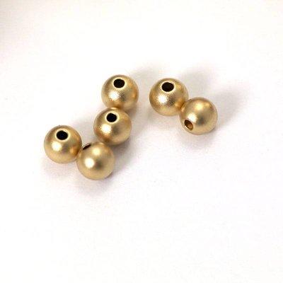 Goldfilled 14kt kralen - rond 6 mm kraal 'smooth' SATIN