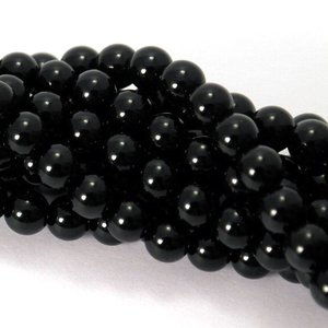 Onyx kralen 8 mm rond (streng)