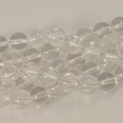 Bergkristal kralen 8 mm rond (streng)