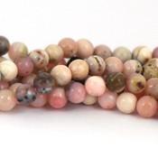 Opaal - roze opaal kralen 6 mm rond (streng)