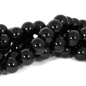 Onyx kralen 12 mm rond (streng)