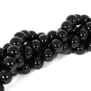 Onyx kralen 10 mm rond (streng)