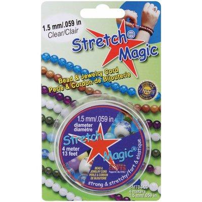 Stretch Magic elastiek transparant, diameter 0,5-1,8mm