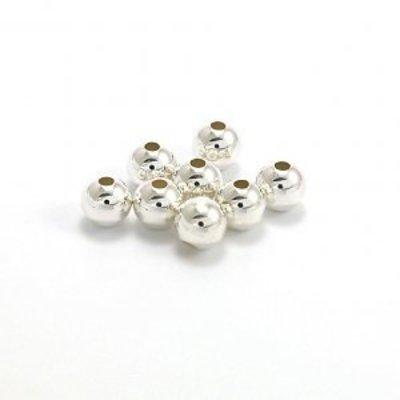 925 zilveren kralen rond 'smooth' 2,5 mm - 8 mm