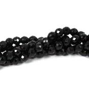 Onyx kralen facet 4 mm rond (streng)