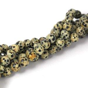 Jaspis -Dalmatiër jaspis kralen 8 mm rond (streng)