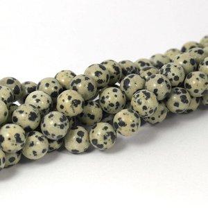 Jaspis -Dalmatiër jaspis kralen 10 mm rond (streng)