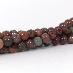 Jaspis - chohua jaspis kralen 6 mm rond (streng)