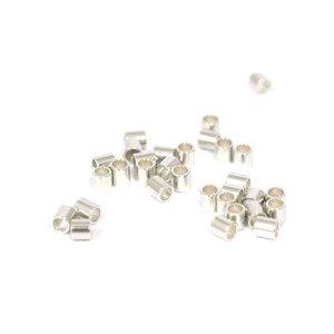 925 zilveren knijpkralen cilinder (10st)
