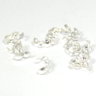 925 zilveren kalotjes 3,5 mm (open ring - paar)