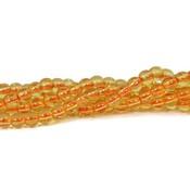 Citrien kralen 4 mm rond (streng)