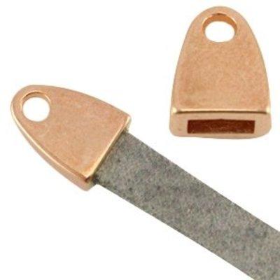 Eindkap voor 5 mm plat leer rosé goudkleur