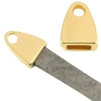 Eindkap voor 5 mm plat leer goudkleur