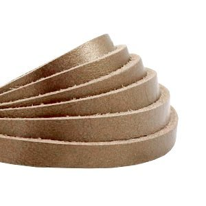 Plat leer 5 mm metallic bronze (18 cm)