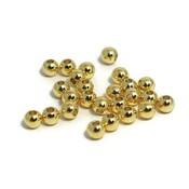 Metalen kralen 4 mm rond goudkleur (25st)