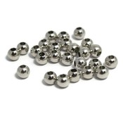 Metalen kralen 4 mm rond antiek zilverkleur (25st)
