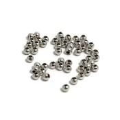 Metalen kralen 2,5 mm rond antiek zilverkleur (50 st)