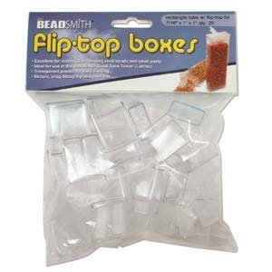 Fliptop doosjes 1 x 2,5 x 2,5 cm (20 stuks)