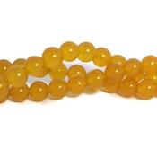 Jade kralen 8 mm rond imitatie gele aventurijn (streng)