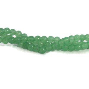 Jade kralen 4 mm rond imitatie groene aventurijn (streng)