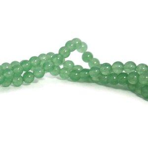Jade kralen 6 mm rond imitatie groene aventurijn (streng)