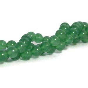 Jade kralen 8 mm rond imitatie groene aventurijn (streng)