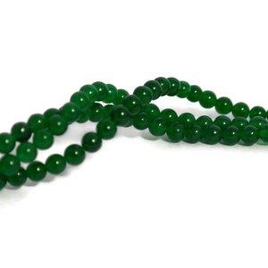 Jade kralen 4 mm rond green (streng)