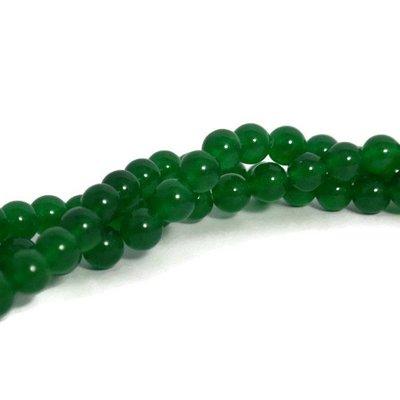 Jade kralen 8 mm rond green (streng)