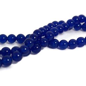 Jade kralen 8 mm rond blue (streng)