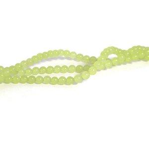Jade kralen 4 mm rond peridot (streng)