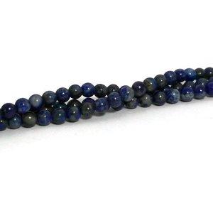 Lapis lazuli kralen 4 mm rond (natuurlijk) (streng)