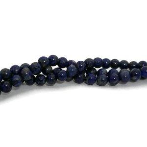 Lapis lazuli kralen 6 mm rond (natuurlijk) (streng)